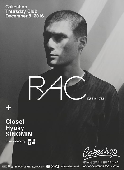 RAC (USA) DJ set at Cakeshop