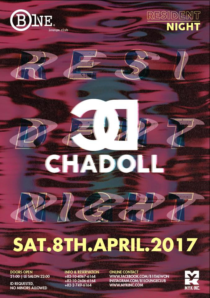 Resident Night DJ CHADOLL @ B One