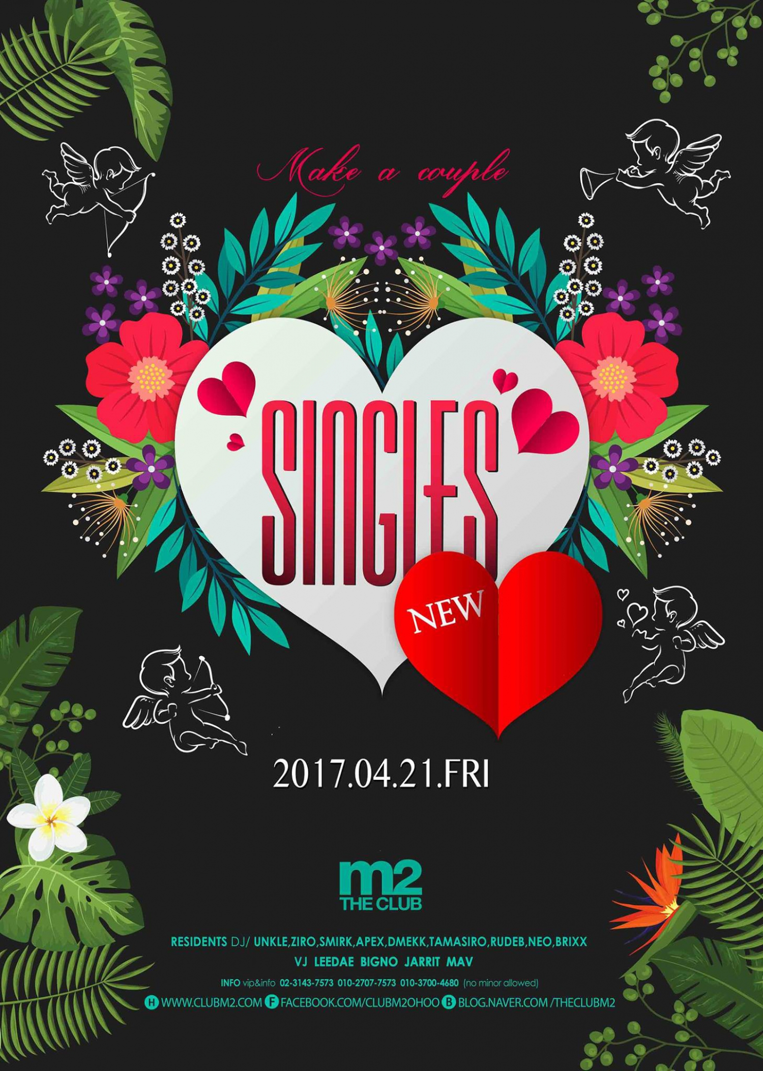SINGLES Party at Club M2
