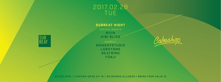 Subbeat Night at Cakeshop Seoul