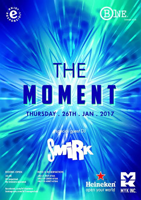 The Moment this Thursday at B One Lounge Itaewon
