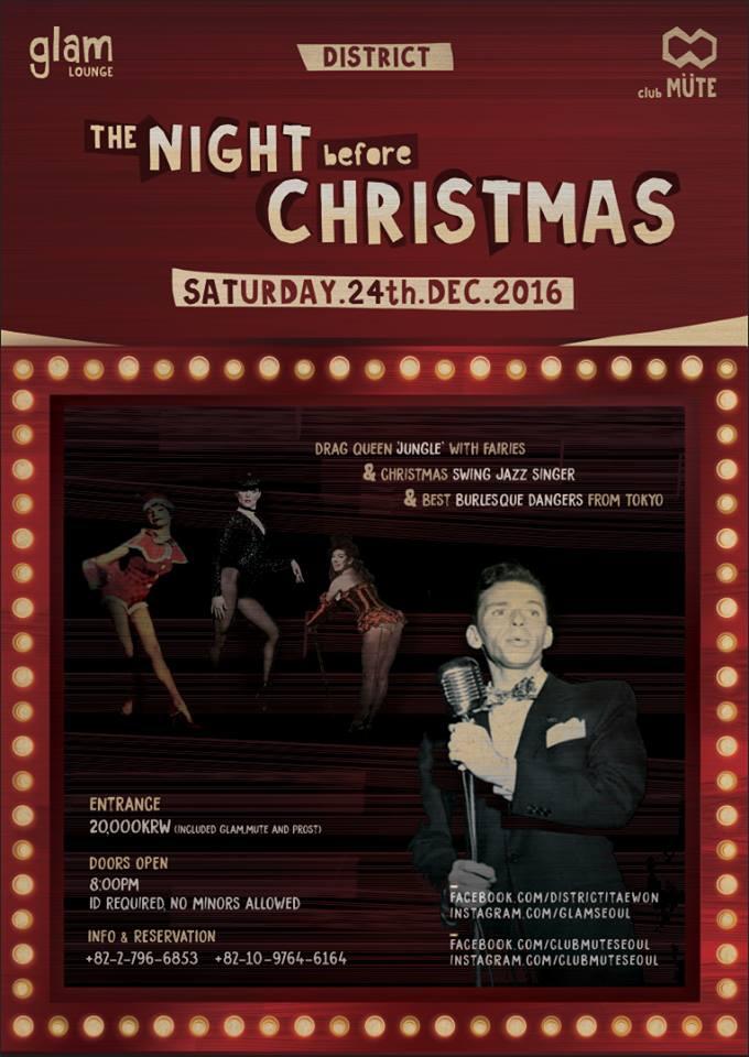 The Night Before Christmas Itaewon!
