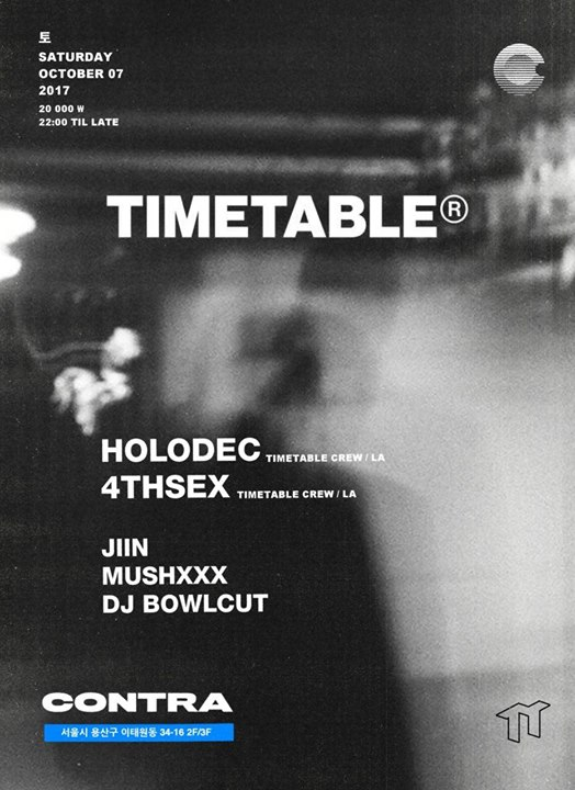 Timetable Crew Night w/ Holodec and 4thsex [LA / USA]