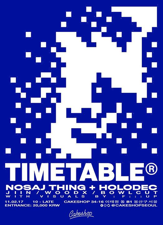 Timetable Night w/ Nosaj Thing + Holodec (LA)