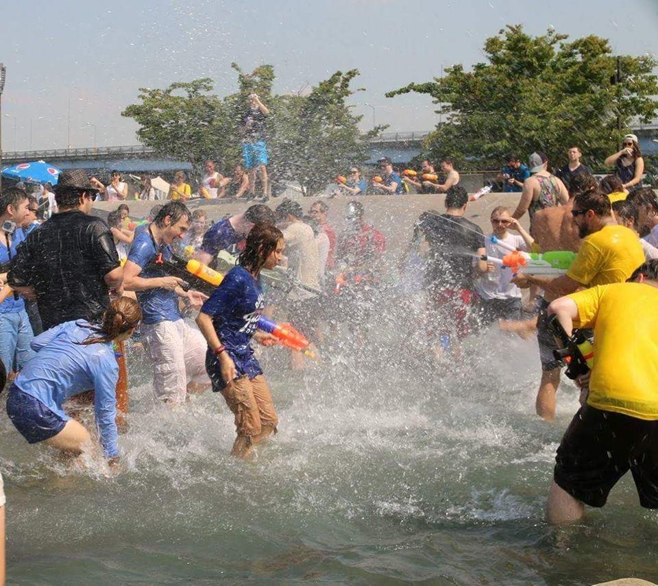 Water Gun Fight Flash Mob in Seoul