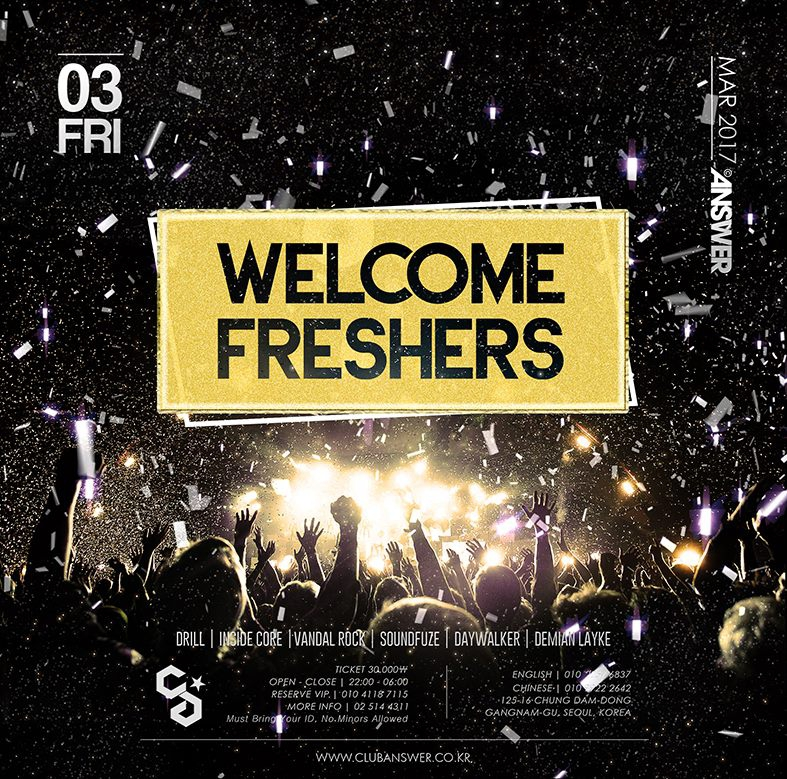 WELCOME FRESHERS