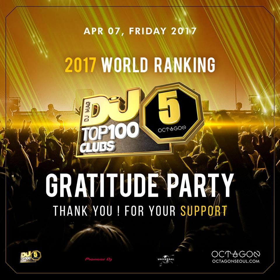 WORLD RANKING #5 GRATITUDE PARTY