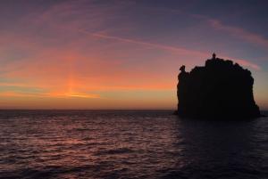 From Milazzo, Sicily: Panarea & Stromboli Eruption by Night