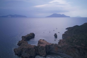 From Salina: Private Boat Tour to Panarea and Stromboli