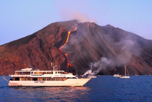 From Taormina: Chic Panarea and Stromboli Full-day Tour