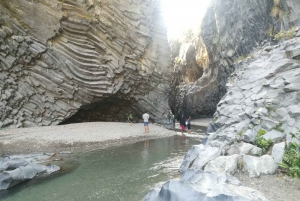 Full-Day Etna, Wine & Alcantara Canyons Tour from Taormina