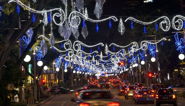 Blue Christmas on Orchard Road