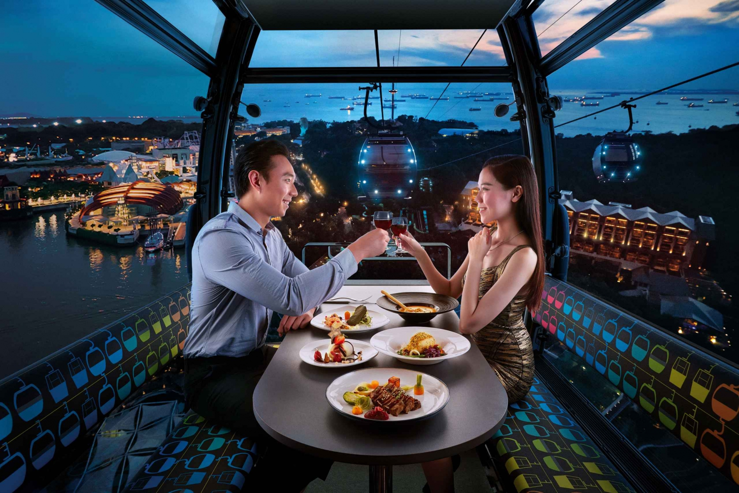 Singapore Cable Car: Premium Cabin Dining Experience