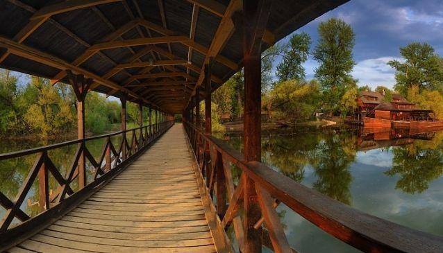 Wooden Bridge in Kolárovo