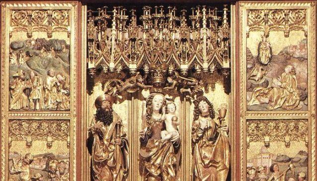 Wooden Gothic Altar