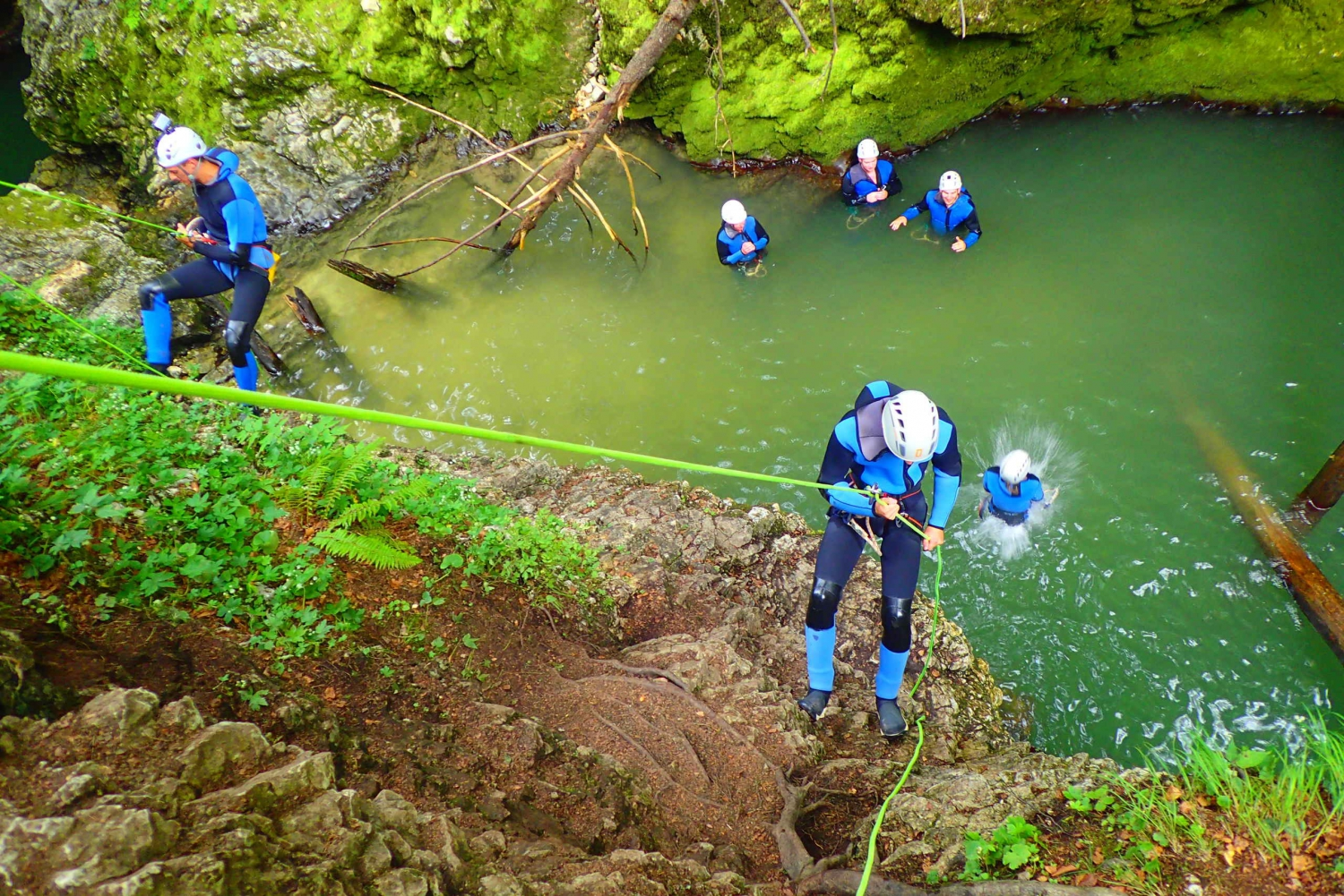 Bled: Abseiling and Water Canyoning