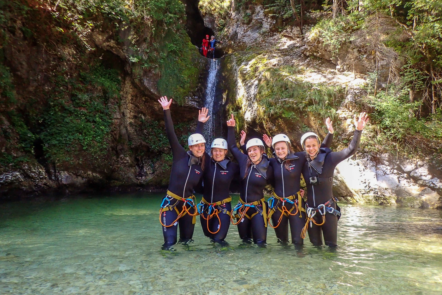 Bled: Guided Canyoning Tour with Transport