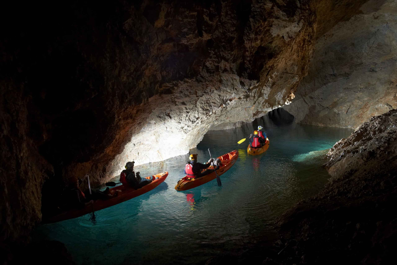 From Bled: Full-Day Underground Kayaking