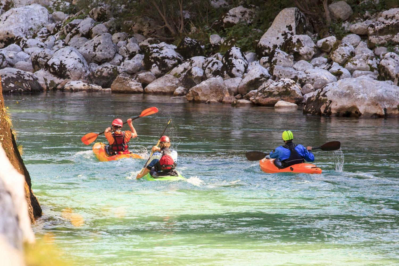 From Bovec: 1-Hour Kayaking on the Soča River
