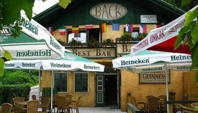 George best bar - Back bar