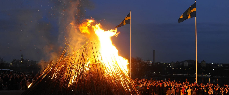 Valborg at Skansen