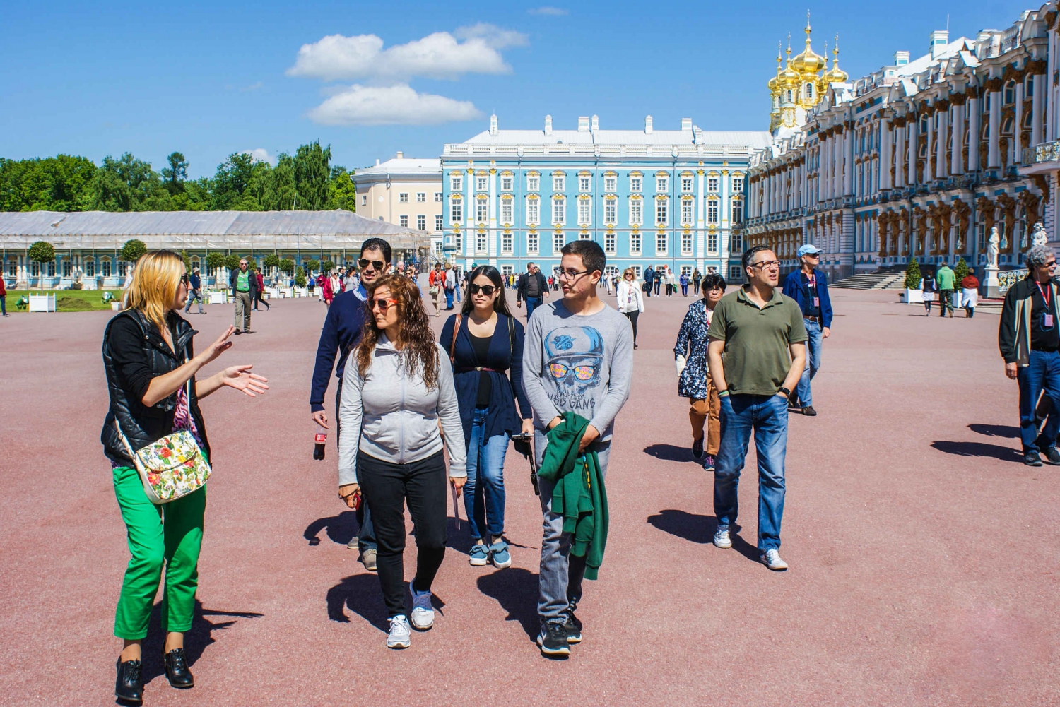 Catherine Palace and Park by Public Transport with Pickup