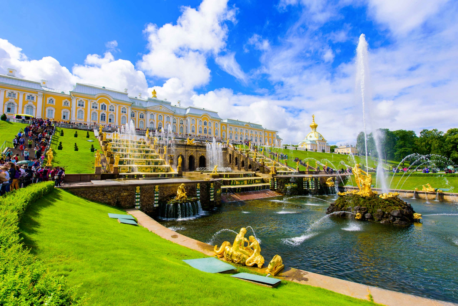 From Peterhof Palace and Gardens Day Tour