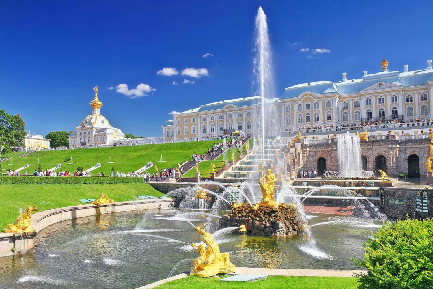 Peterhof Palace and Park Private Tour with Boat Ride Back