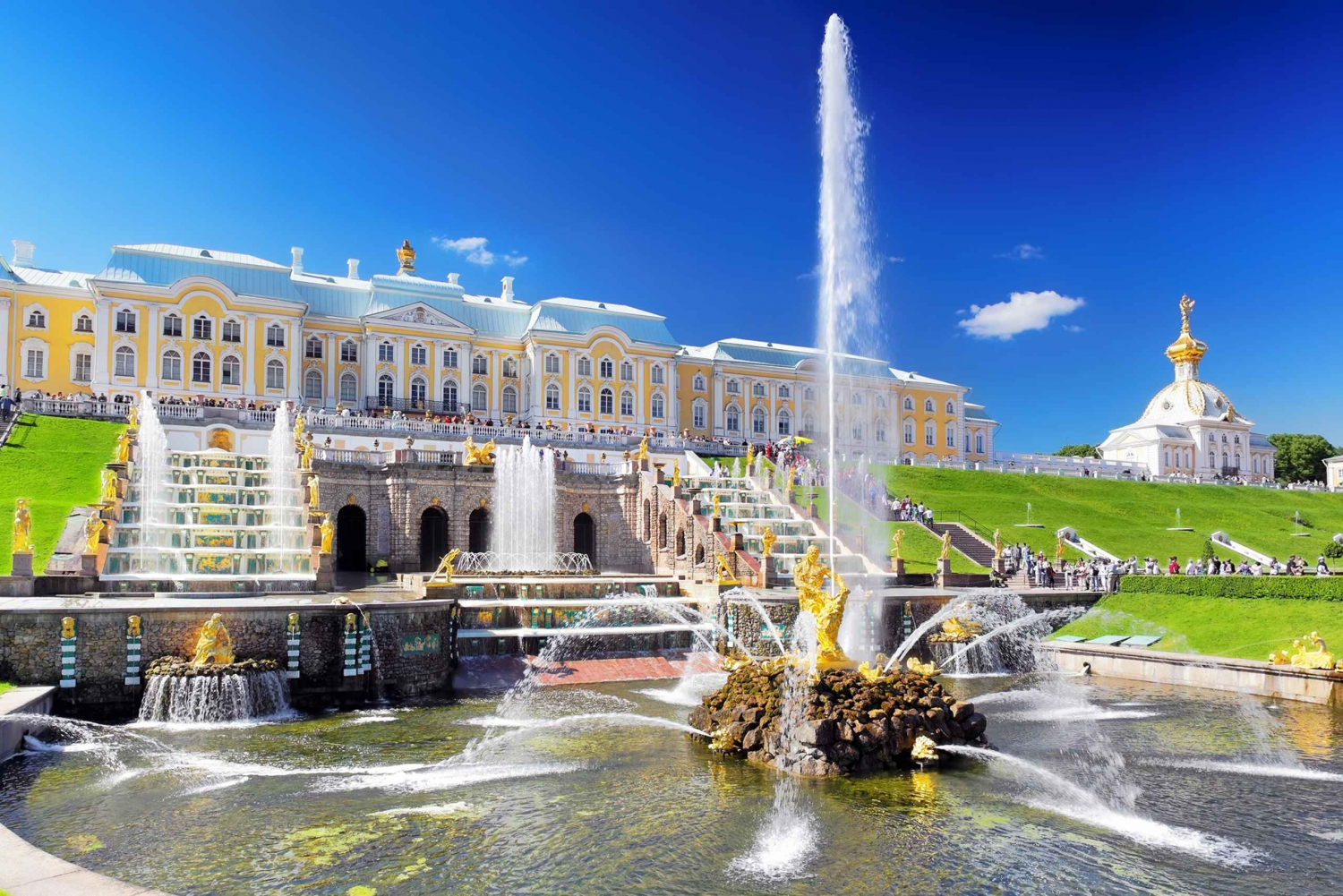Peterhof: Palace and Parks. Private Tour with Transfer