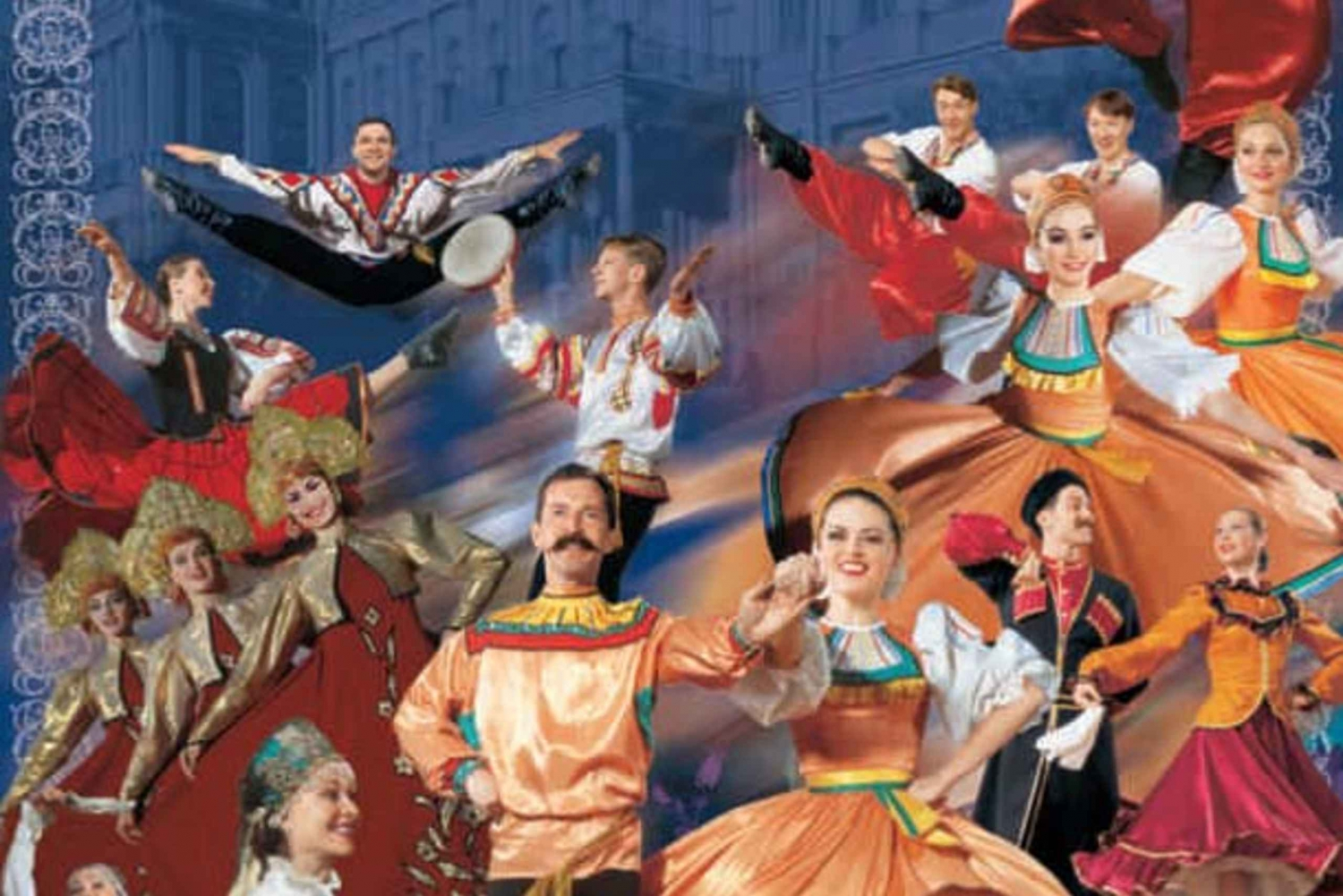 Russian Folk Show and Illuminations City Night Tour