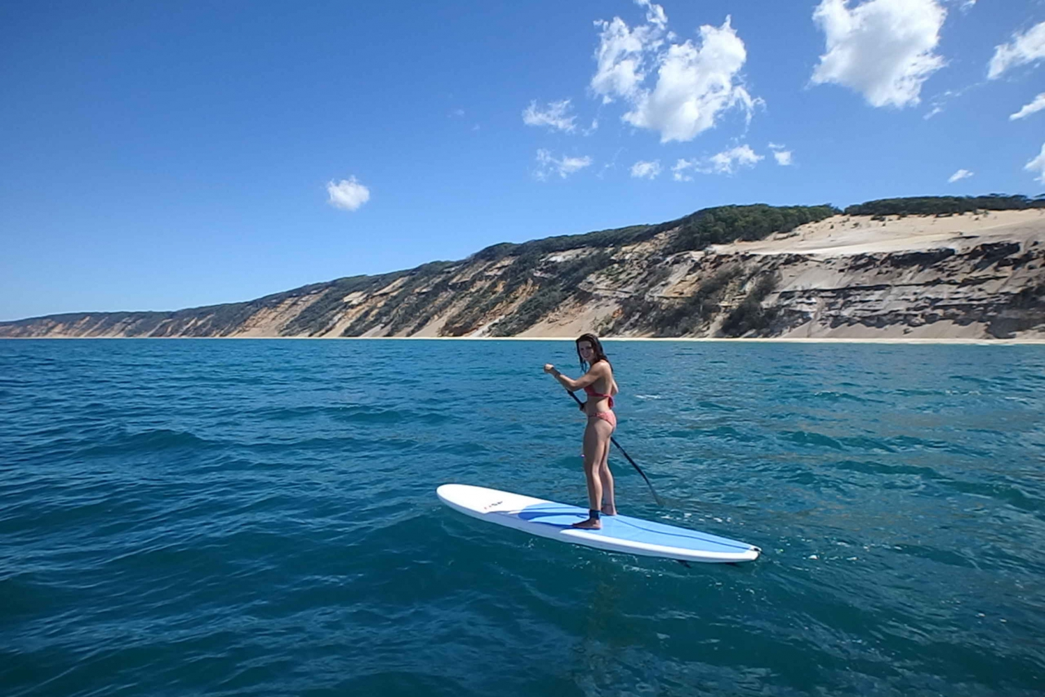 Noosa: Stand Up Paddle Lesson Double Island Adventure