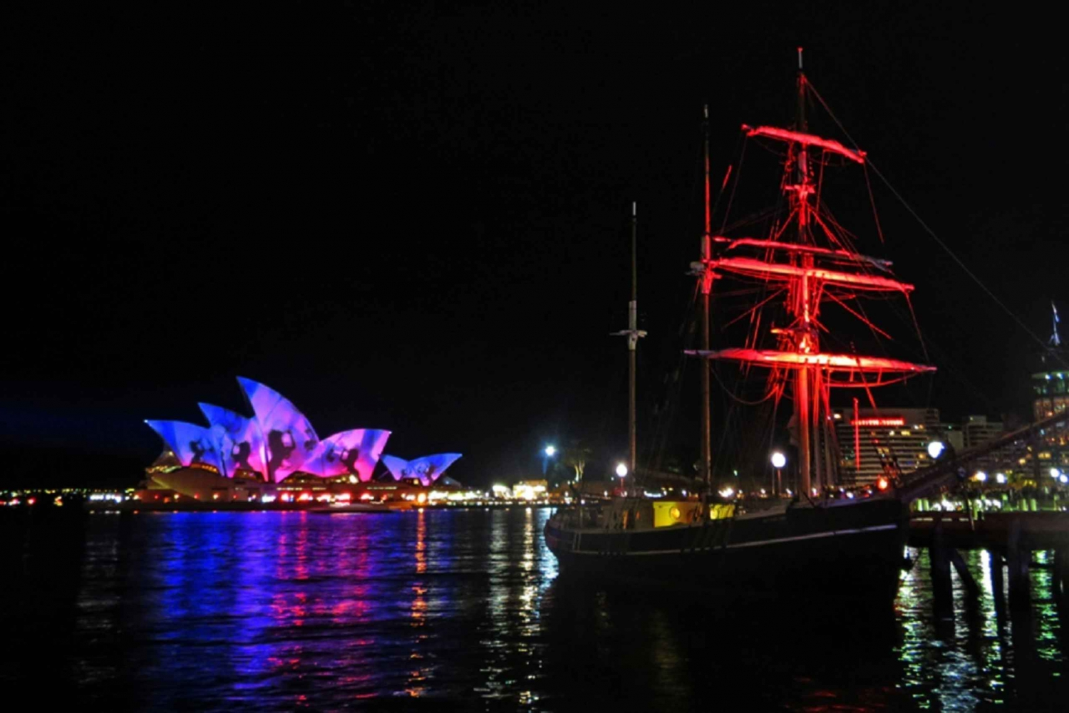 Sydney Harbour: Tall Ship Vivid Dinner Cruise