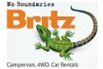 Britz Campervans, Four Wheel Drive and Car Rentals