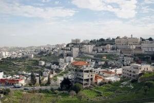 Bethlehem, Jericho and Jordan River from Tel Aviv