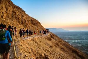Masada at Sunrise, Ein Gedi, & Dead Sea from Jerusalem
