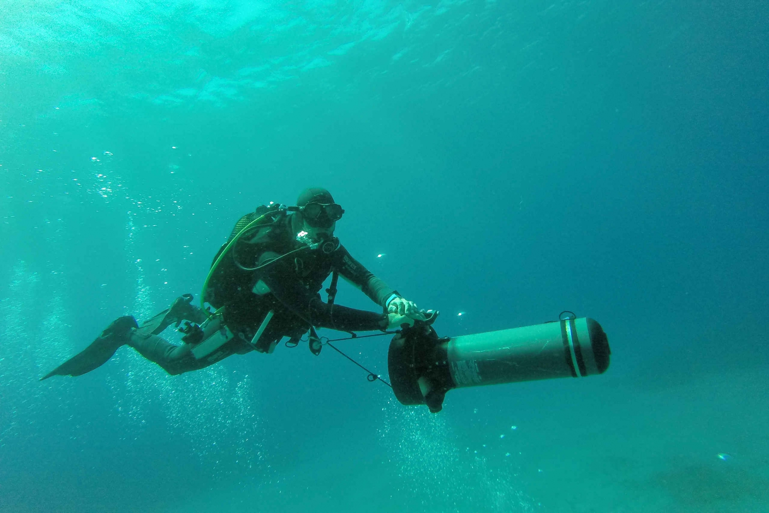 Diving with Underwater Scooter (DPV) in Tenerife