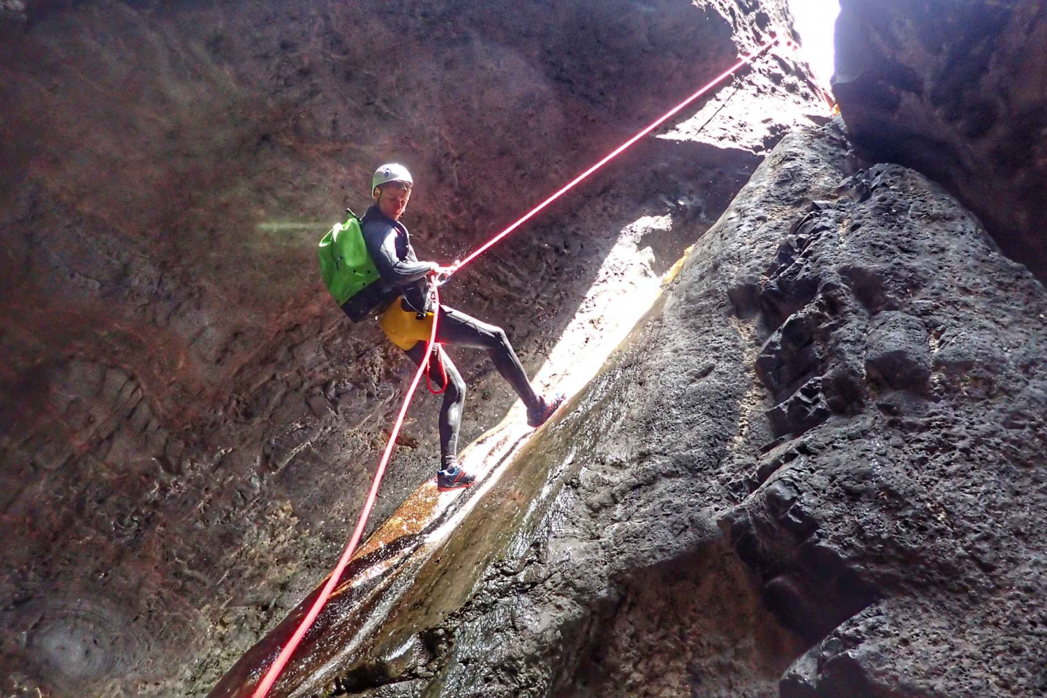 Los Carrizales: Full-Day Canyoning Tour in a Small Group