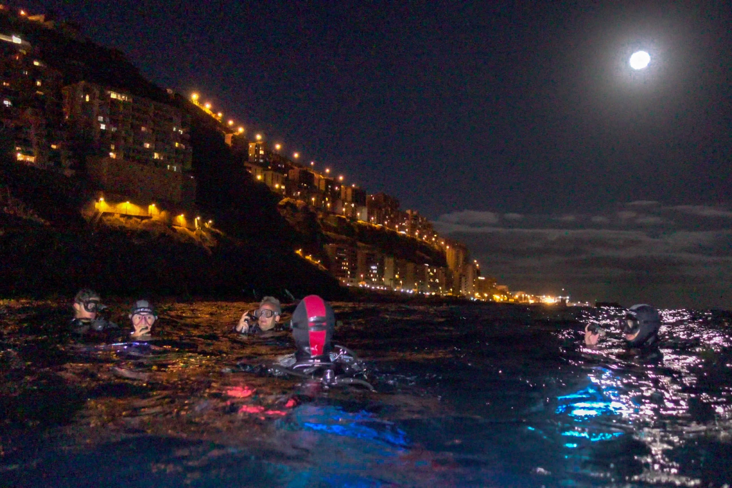 Scuba Night Dive on Tenerife