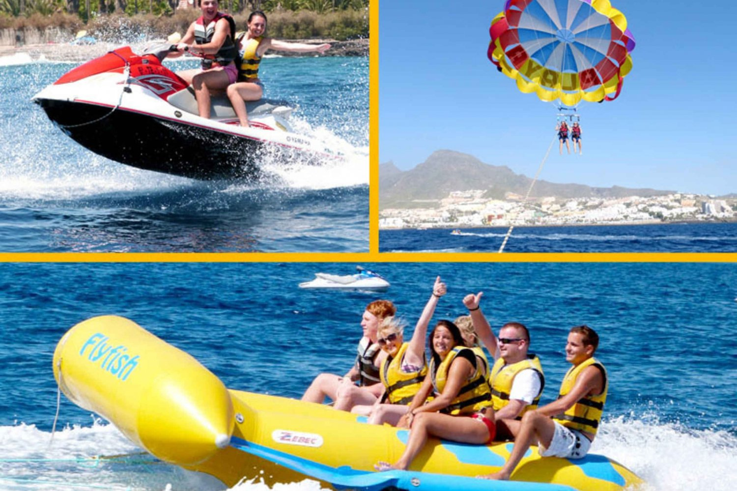 Tenerife Watersports Combo: Jet Ski, Para-Sail and Flyfish