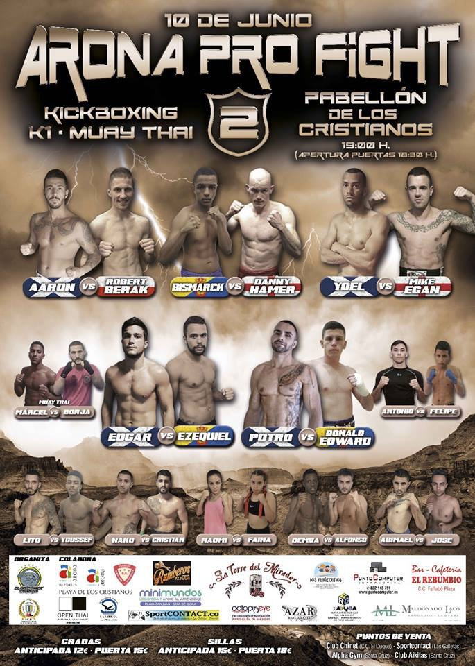 Arona Pro Fight Kickboxing Night