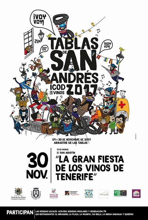 Arrastre Tablas de San Andrés en Icod de los Vinos