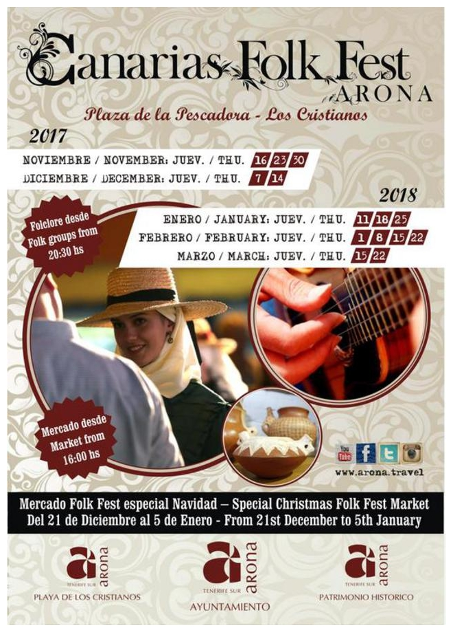 Canaries Folk Fest Arona Event 2018 in Los Cristianos