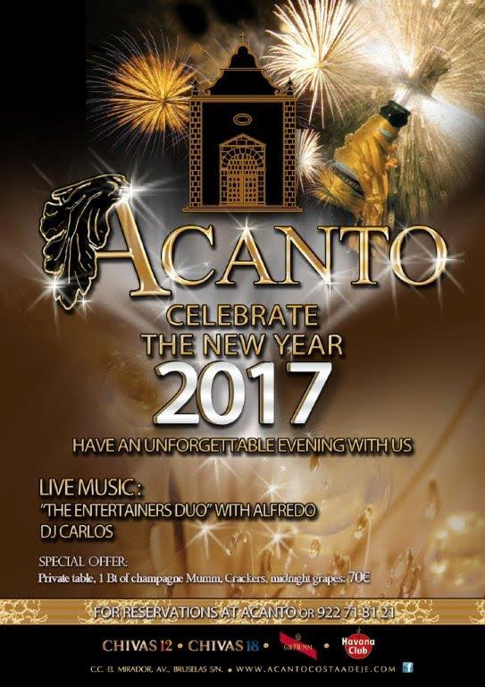 Celebrate New Year at Acanto Cocktail Lounge