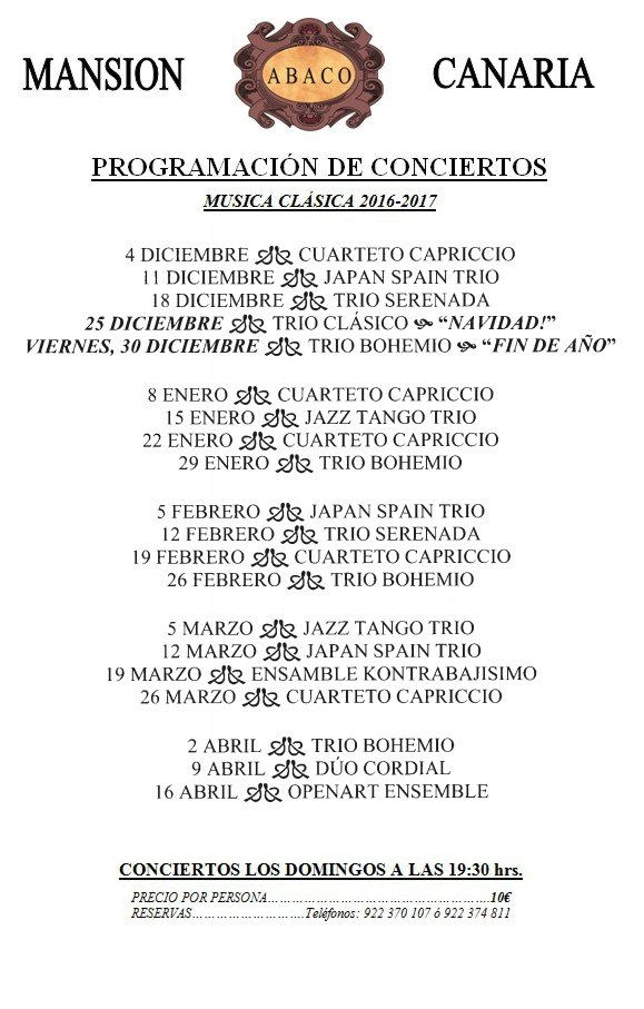 Classical Music Concerts in Puerto de la Cruz