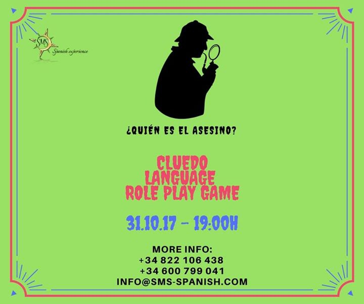 Cluedo Language Role Play Game