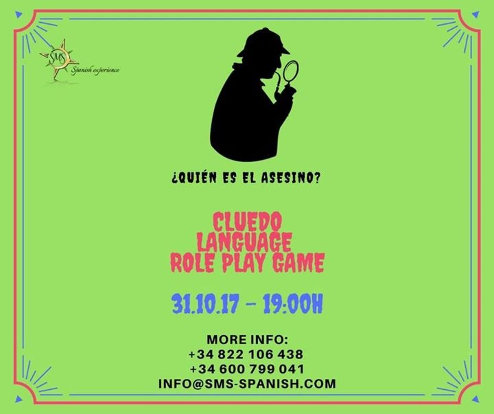 Cluedo Language Role Play Game