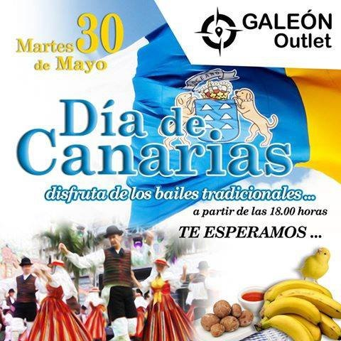 Dia de Canarias in El Galeon Outlet