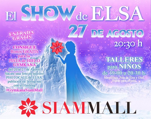 Princess Elsa Comes to Siam Mall
