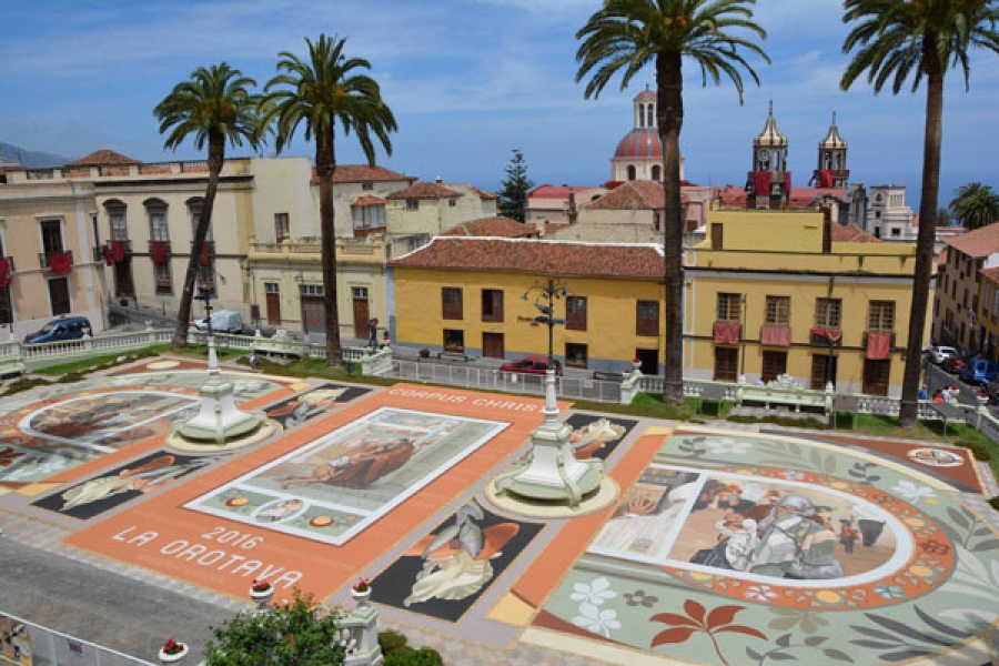Famous Carpet Display of La Orotava