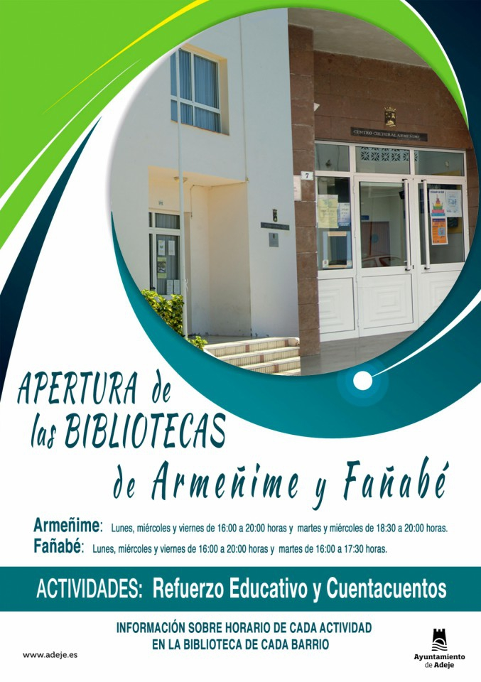 Fañabe & Armeñime Library Open Days